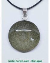 Obsidienne Dorée - Pendentifs Bélière - Coeur, Goutte, Ovale, Rond