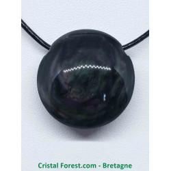 Obsidienne Manta Huichol (Mentogochol) - Pendentif Pierre percée