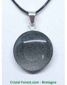 Obsidienne argentée - Pendentifs Cerclé - Bélière Argentée