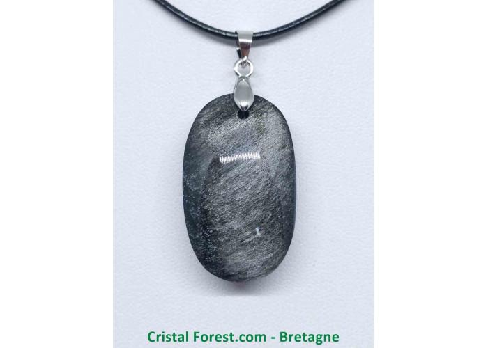 Obsidienne argentée - Pendentifs bélière argentée