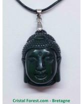 Obsidienne - Pendentif Bélière Bouddha