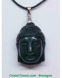Obsidienne Noire - Pendentif Bélière Bouddha