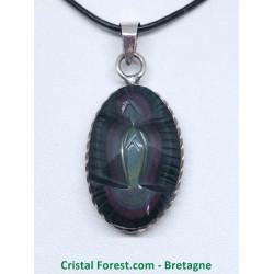 Obsidienne Oeil céleste (arc-en-ciel) - Pendentifs Vierge-Marie