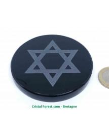 Obsidienne Noire - Disque Sceau de Salomon