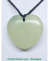 Jade de Chine - Pendentif Pierre Percée - Coeurs