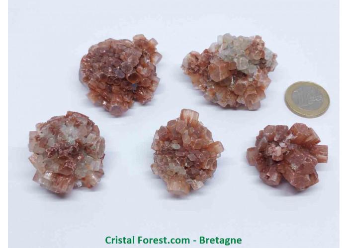 Aragonite - Pierres brutes cristalisées - 3 à 5cm / de 40 à 80g