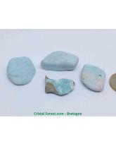 Turquoise naturelle de Chine - Pierres roulées non stabilisées