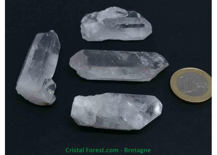 Cristal de roche - Pointes brutes multi-format - 2.7 à 6.3cm / 10 à 20gr