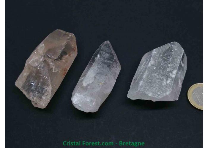 Cristal de roche - Pointes brutes multi-format - 4.8 à 8.7cm / 51 à 100gr