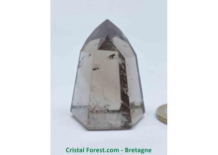 Quartz fumé - Pointes polies (prismes) - 4.1 x 3.3 x 2.7cm / 46,50gr