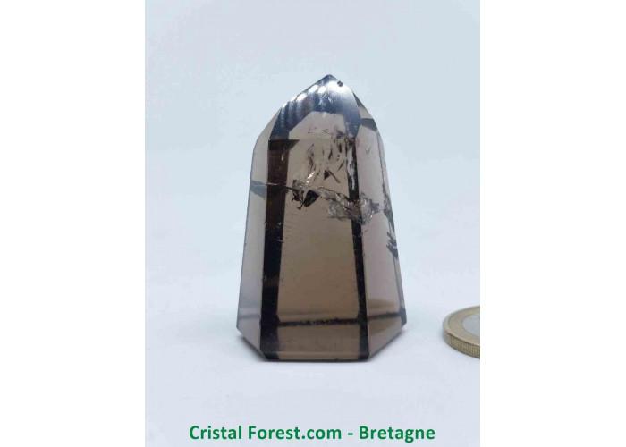 Quartz fumé - Pointes polies (prismes) - 4.7 x 3.1 x 2.7cm / 49,60gr