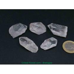 Crisal de Roche - Pointes brutes - Lots de 5 pierres