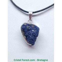 Azurite brute - Pendentif Serti Argent
