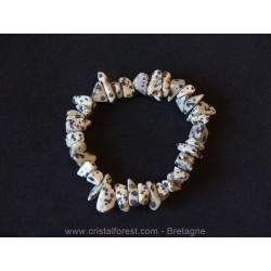 Jaspe dalmatien - Bracelet