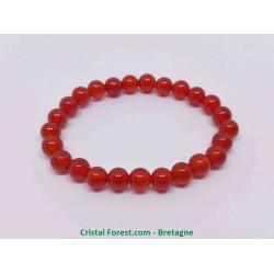 Cornaline - Bracelet Boules 6mm - Taille Enfant
