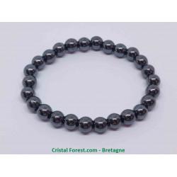 Hématite - Bracelet Boules 8mm