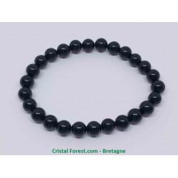 Tourmaline noire - Bracelet boules 8mm - Grande Taille