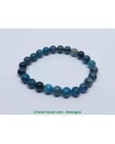 Apatite Bleue extra - Bracelet Boules