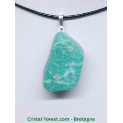 Amazonite - Pendentif pierre roulée