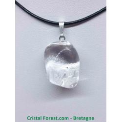 Cristal de Roche - Pendentif Pierre Roulée
