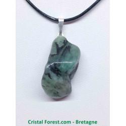 Emeraude (béryl vert) - Pendentif Belière