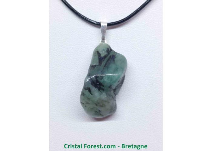 Emeraude (béryl vert) - Pendentif Belière - 2 à 4  cm