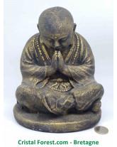 Moine bouddhiste - Pierre de Lave (Basalte)
