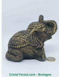 Eléphant - Pierre de Lave (Basalte)