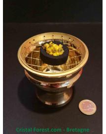 Brûle Encens en laiton doré - Grand modèle