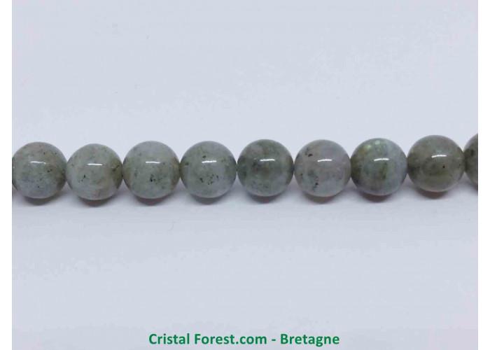Labradorite - Fil de Perles - Long. env. 38 cm et 46 (+/-) Perles de 8mm