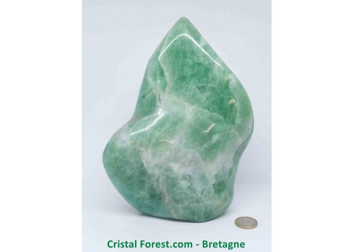 Formes libres de Fluorite verte