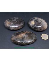 Pierre de lune noire AAA (microline) - Galets Grands modèles