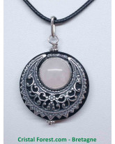 Pendentifs amulette Quartz rose
