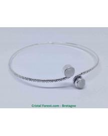Labradorite Blanche - Bracelet Plaqué Argent