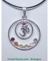 Ohm 7 Chakras - Pendentif rond