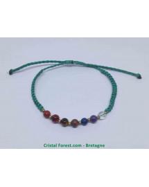 7 Chakras - Bracelet Tissu