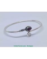 Grenat pyrope (rouge) - Bracelets Argent
