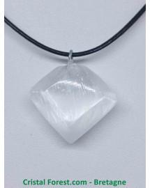 Sélénite - Pendentif Diamant