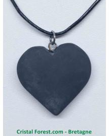 Shungite - Pendentif Coeur