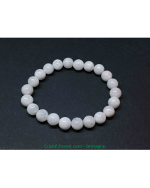 Pierre de lune blanche véritable - bracelet boules