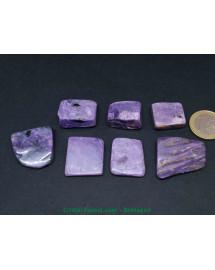 Charoïte - pierres plates