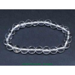 Cristal de roche - Bracelets boules 8mm