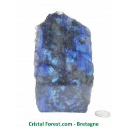 Labradorite - Bloc 1 face polie (semi brut)