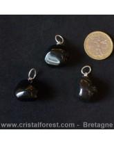Pendentif d' Obsidienne larme d'apache 2cm