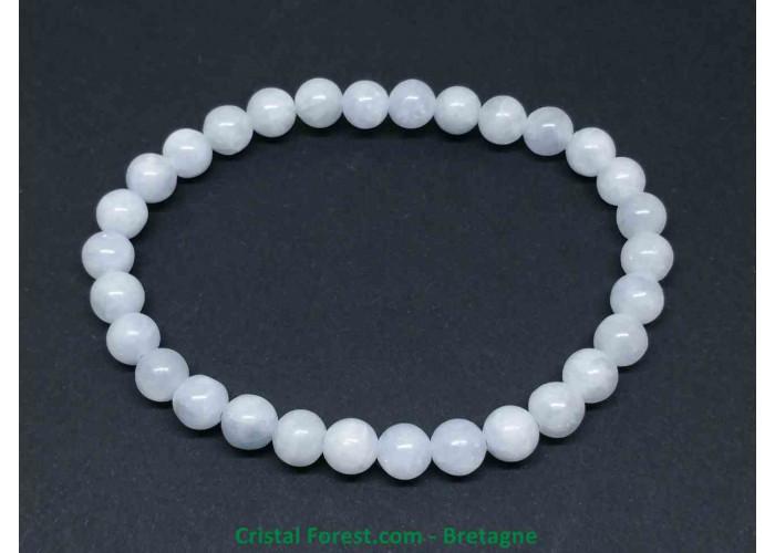 Célestine (célestite)  - Bracelet boule - Boules 6 mm - longueur 15 cm - 10,00gr
