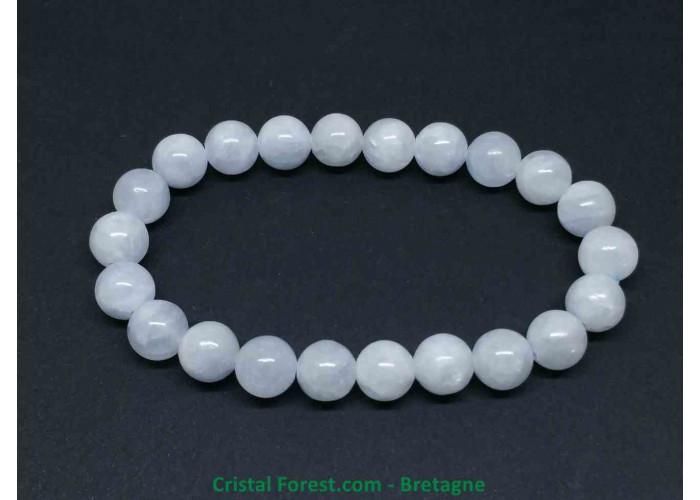 Célestine (célestite)  - Bracelet boule - Boules 8 mm - longueur 15 cm -18,00gr
