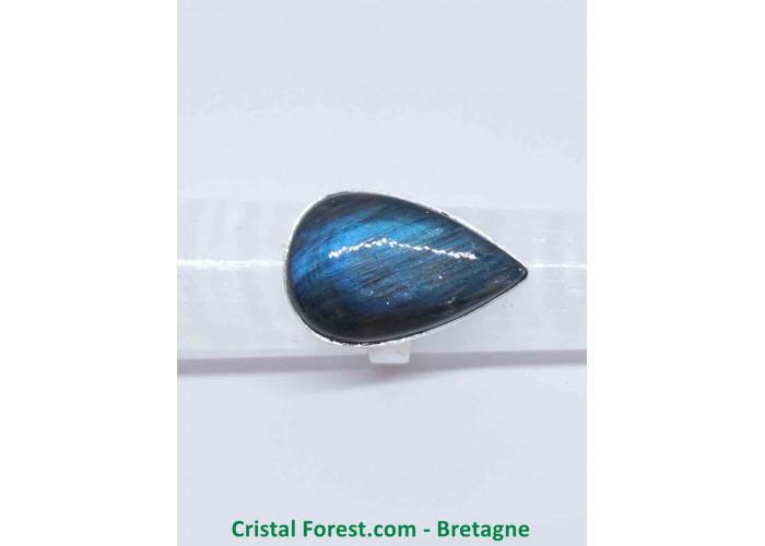 Labradorite AAA - Bague Sertissage Argent sterling - Taille 53. Pierre 2.5 x 1.6 x 0.6cm / 7,50gr
