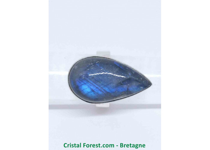 Labradorite AAA - Bague Sertissage Argent sterling - Taille 54. Pierre 2.6 x 1.5 x 0.9 cm / 8,40gr