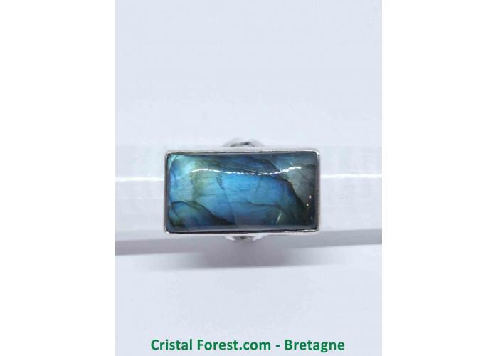 Labradorite AAA - Bague Sertissage Argent sterling - Rectangulaire - Taille 54. Pierre 2.7 x 1.6 x 0.7 cm / 10,40gr