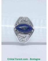 Lapis lazuli - Bague Argent - Qualité joaillerie